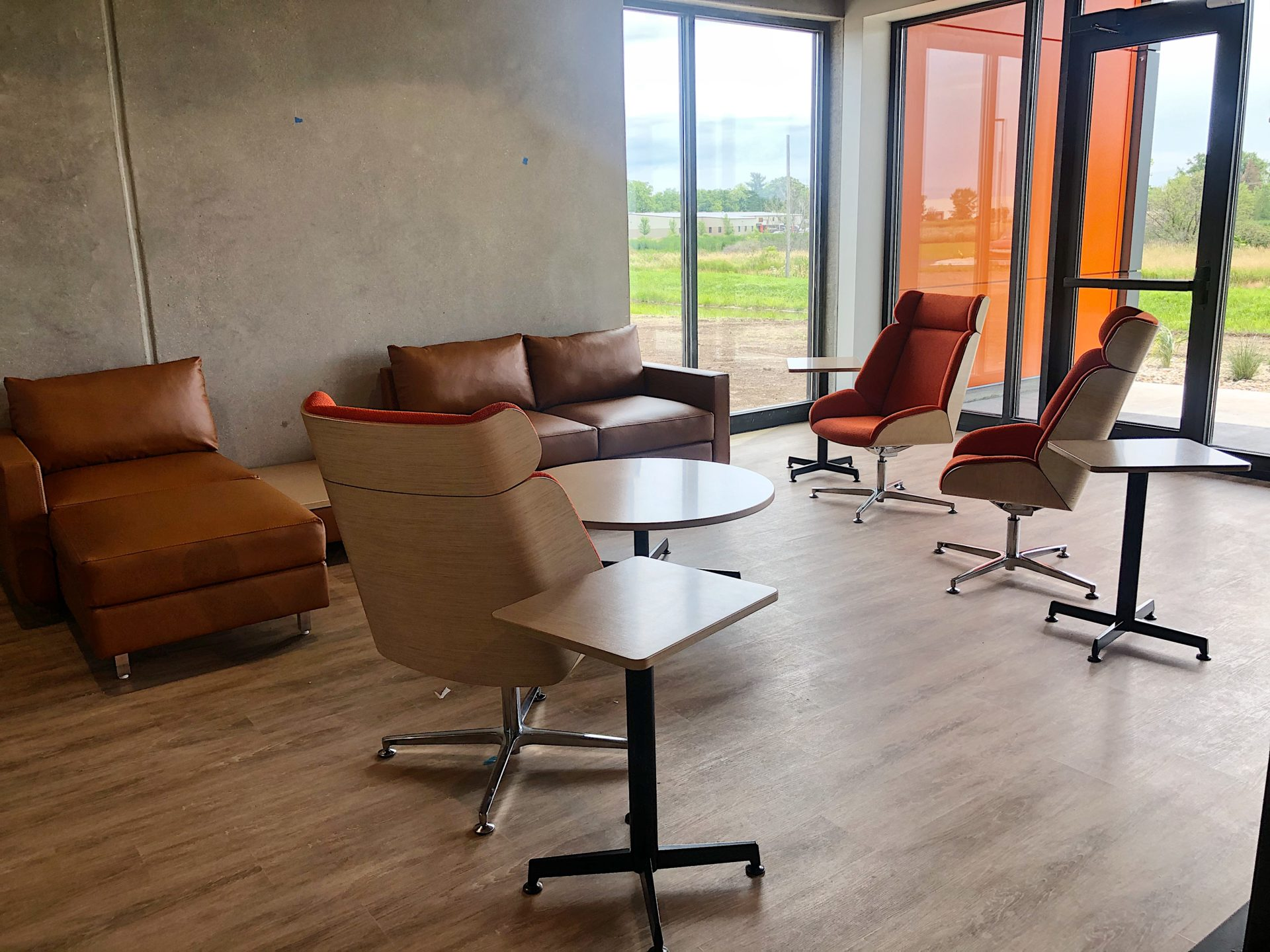 office chairs and tables