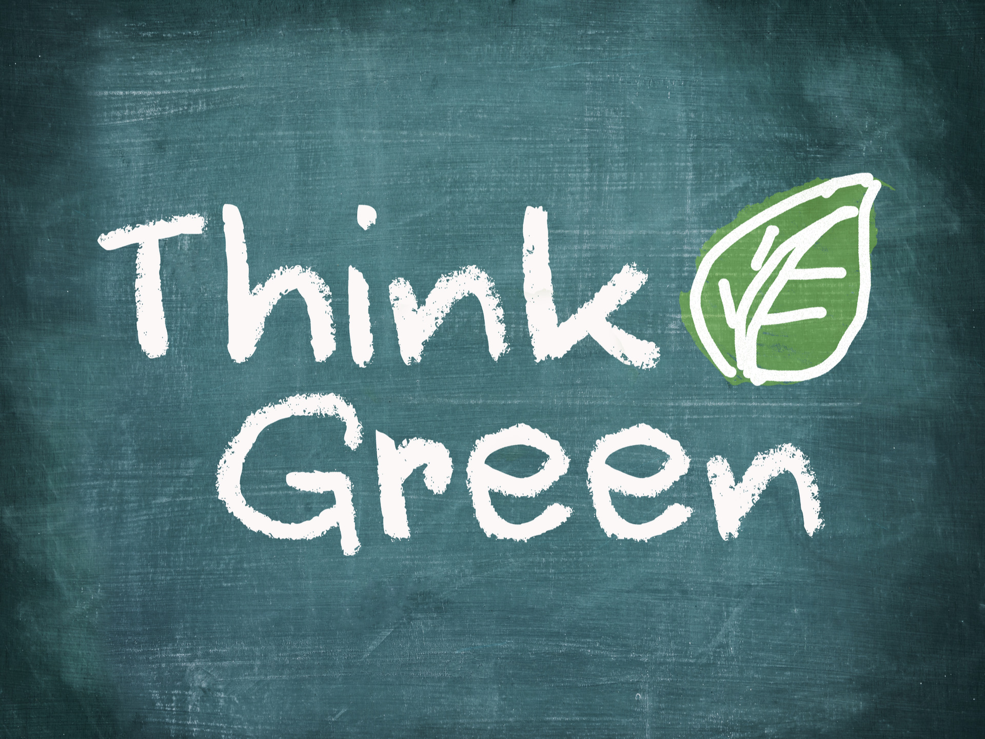 Thinking Green Photo for Safe Environment. Promoting E-Waste Recycling