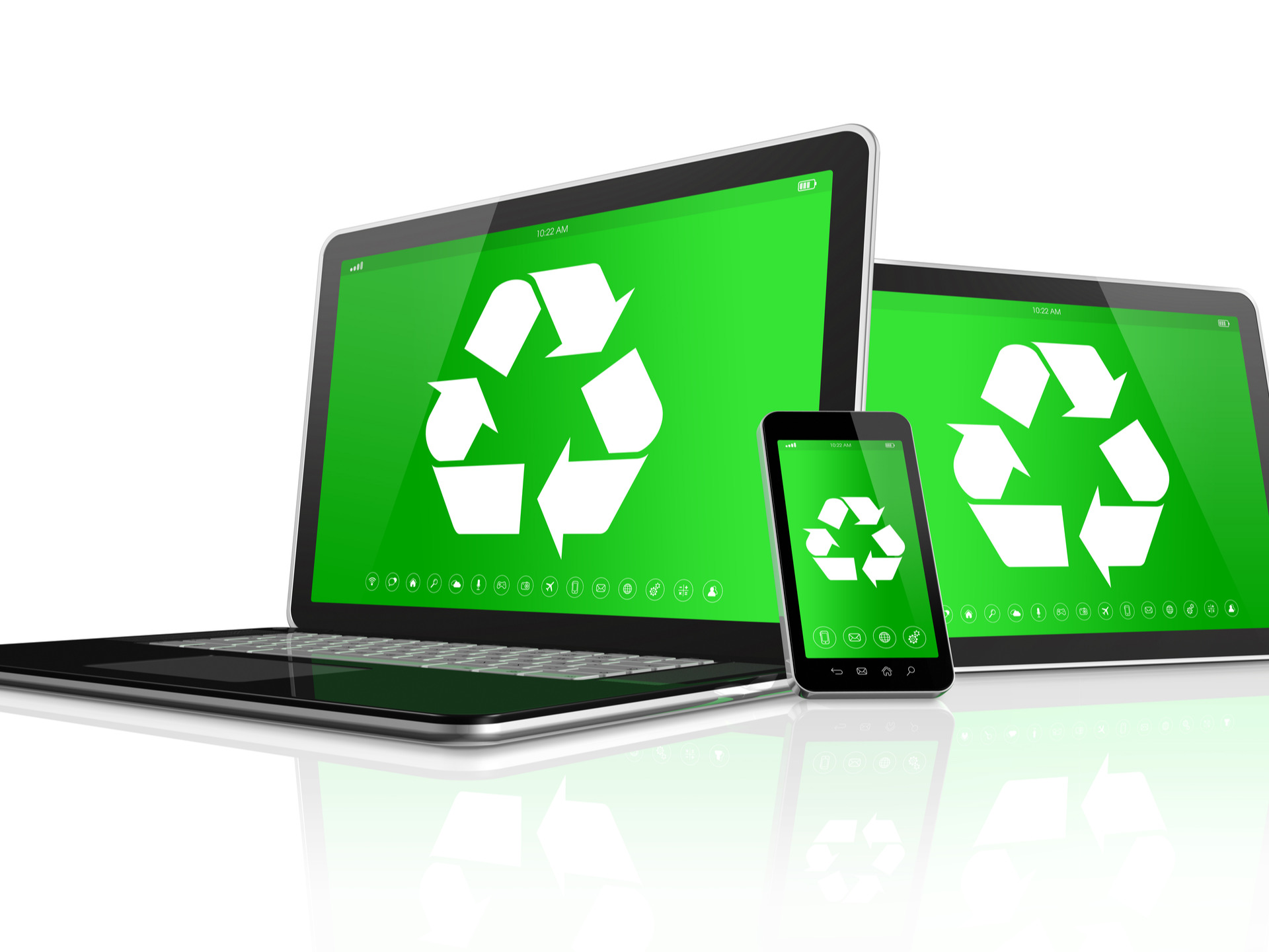 Recycling Laptops, Phones, and Tablets. Promoting E-Waste Recycling